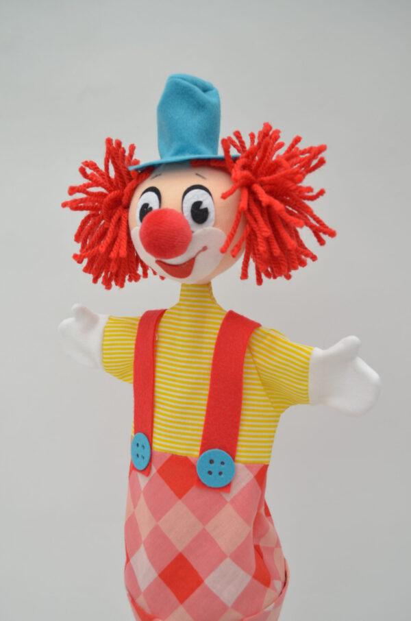 "clown ""Hugo"" stokpop voorkant"
