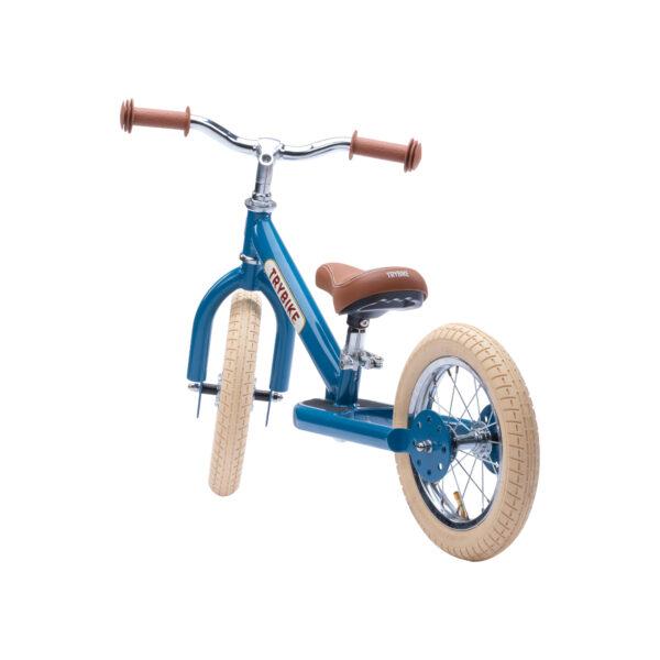 Trybike Vintage Blauw 2-in-1 Loopfiets tweewieler achterkant