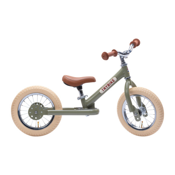 TBS3 vintage groen, classic vintage tweewieler zijkant