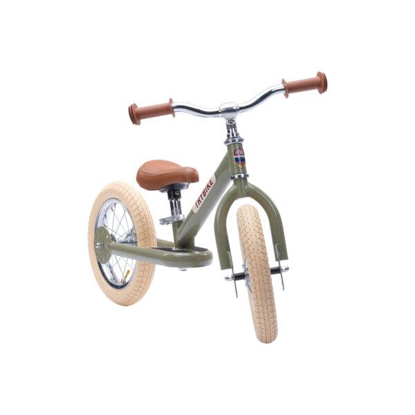TBS3 vintage groen, classic vintage tweewieler voorkant