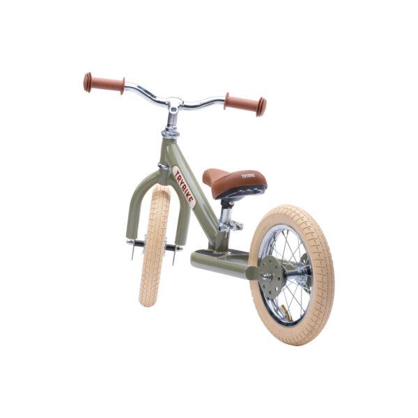 TBS3 vintage groen, classic vintage tweewieler achterkant