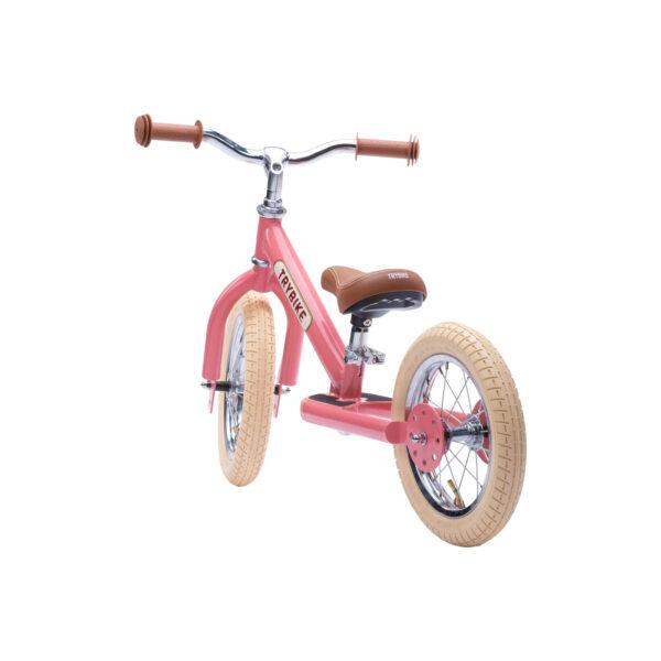 Trybike Vintage Roze 2-in-1 Loopfiets tweewieler achterkant