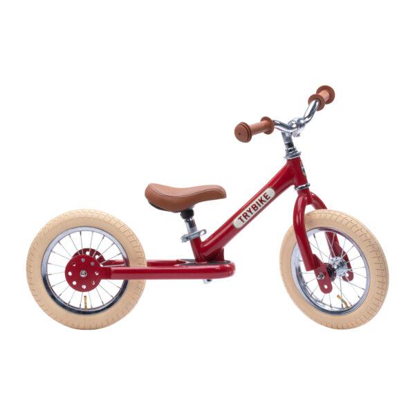 TBS3 vintage red, classic vintage tweewieler zijkant