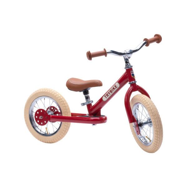 TBS3 vintage red, classic vintage tweewieler ziijkant