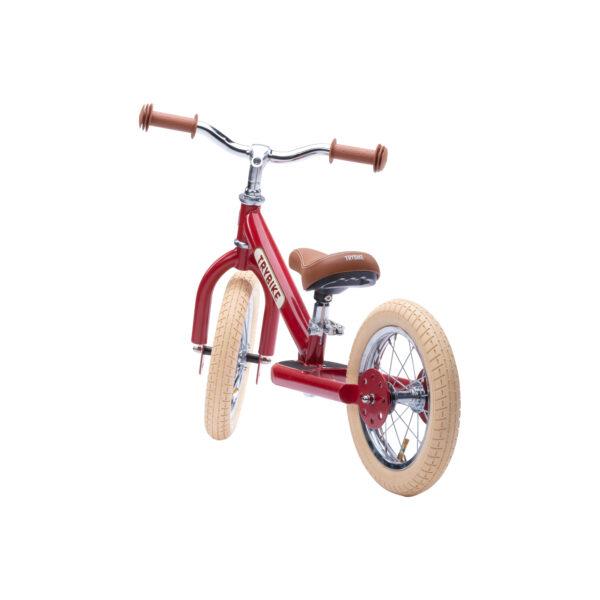 TBS3 vintage red, classic vintage tweewieler achterkant