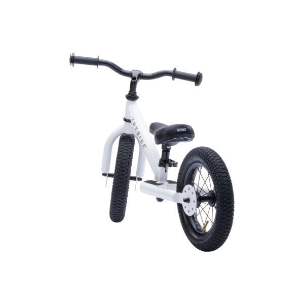 Trybike Vintage wit 2-in-1 Loopfiets tweewieler achterkant