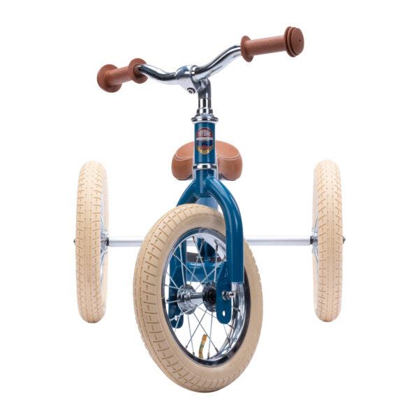 Trybike Vintage Blauw 2-in-1 Loopfiets voorkant