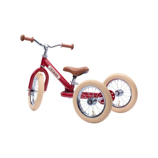 TBS3 vintage red, classic vintage driewieler zijkant