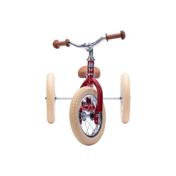 TBS3 vintage red, classic vintage driewieler voorkant