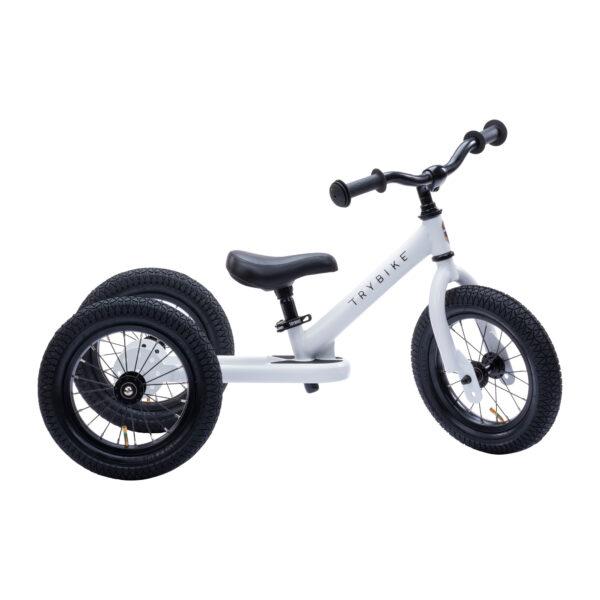 Trybike Vintage wit 2-in-1 Loopfiets