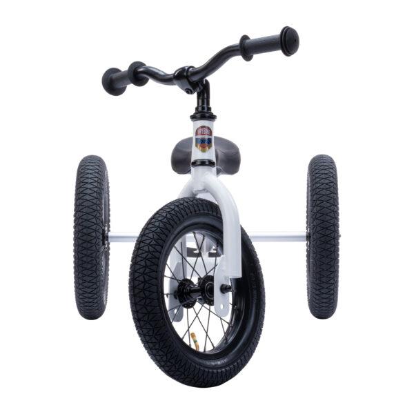 Trybike Vintage wit 2-in-1 Loopfiets driewieler voorkant