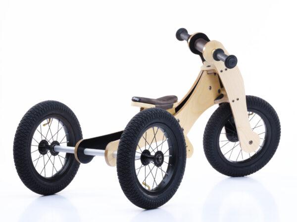 Trybike hout bruin driewieler achterkant
