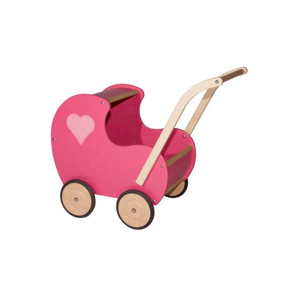 roze vintage poppenwagen
