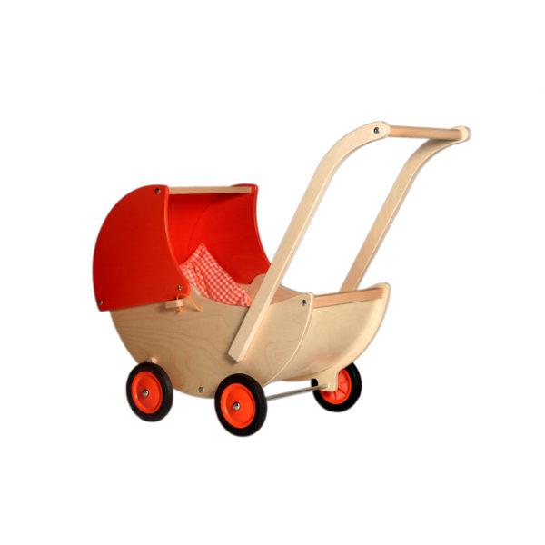 oranje poppenwagen