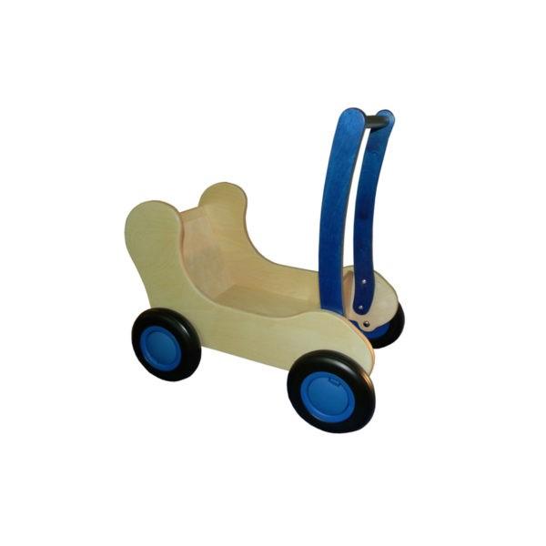 blauwe combiwagen