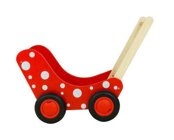poppenwagen met stippen