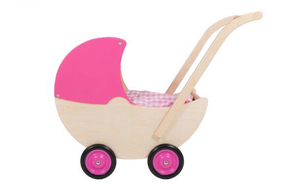 roze poppenwagen